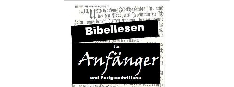Bibellesen für Anfänger